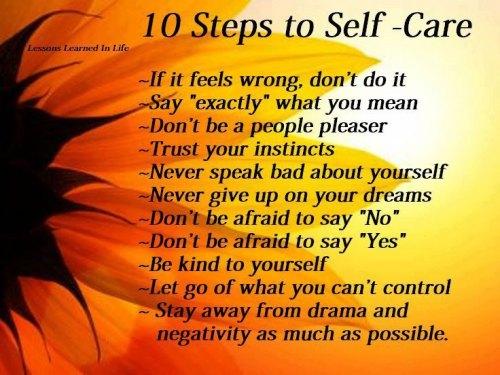 Self Care 10 Steps