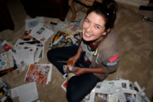 Lauren was the first to tackle the magazines and finished TWO boards in one evening.  WOW, I barely got my one done.